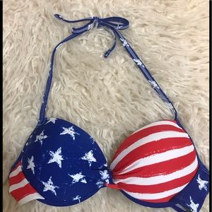 Xhilaration Patriotic Bikini Top Size Med